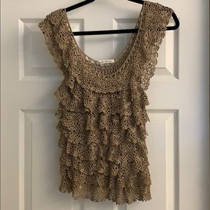 Banana Republic Lace sweater tank